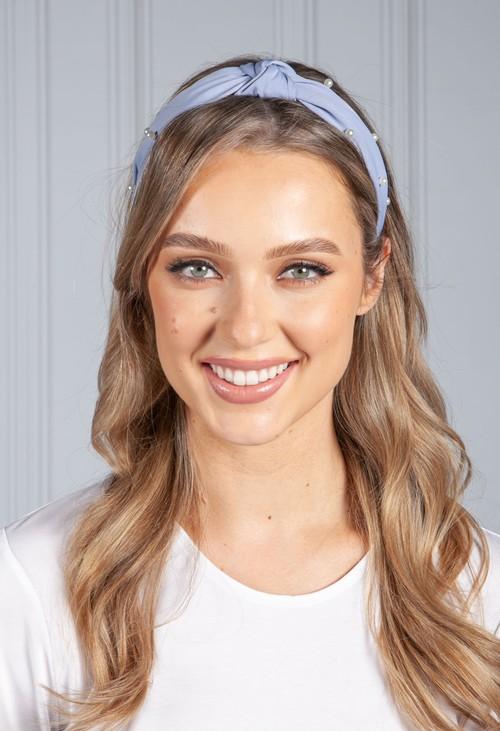 PS Accessories Summer Blue Pearl Headband