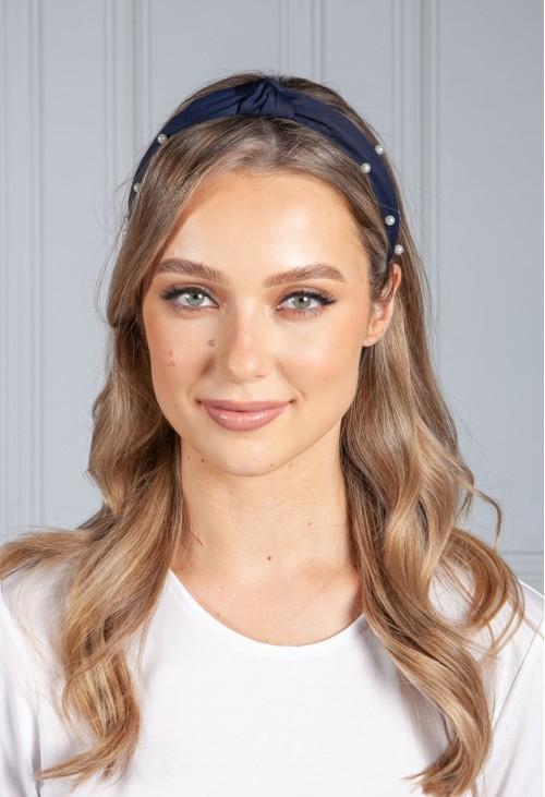 PS Accessories Navy Pearl Headband
