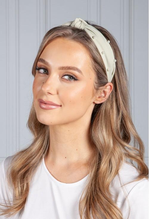 PS Accessories Light Sage Pearl Headband