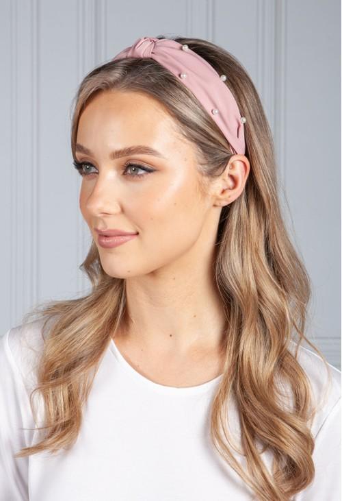 PS Accessories Dusty Pink Pearl Headband
