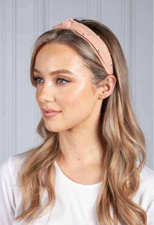 PS Accessories Salmon Pearl Headband