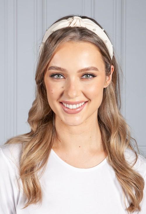 PS Accessories Cream Pearl Headband