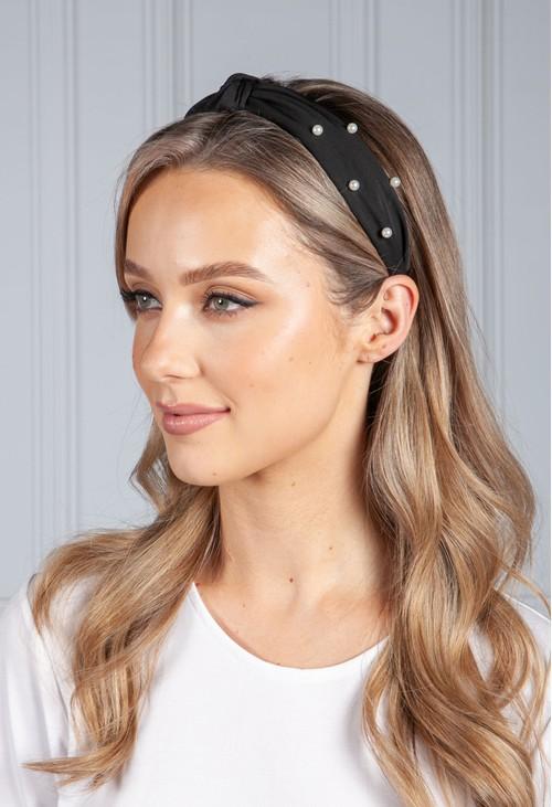 PS Accessories Black Pearl Headband