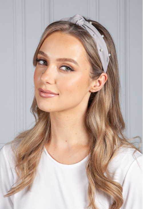 PS Accessories Soft Grey Pearl Headband