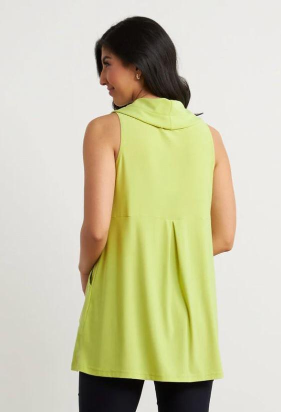 Joseph Ribkoff Sleeveless Drawstring Top in Lime