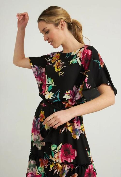 Joseph Ribkoff Chiffon Overlay Dress