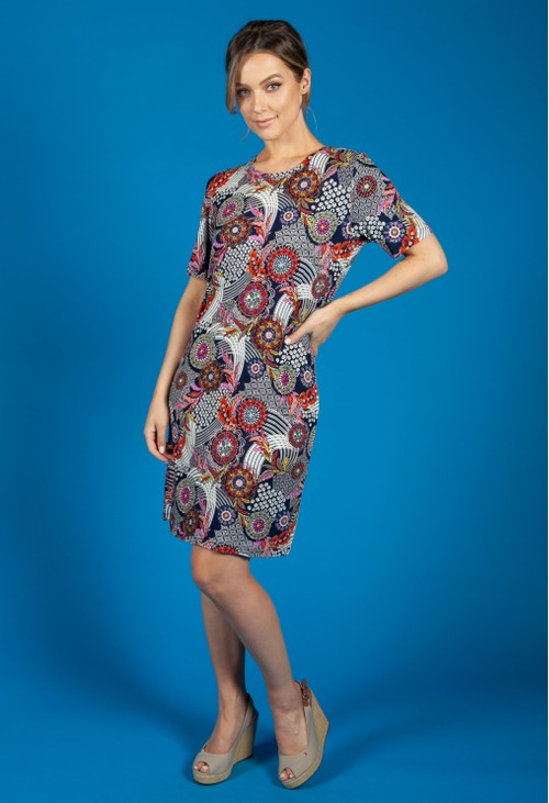 Bicalla Navy Paisley Printed Dress