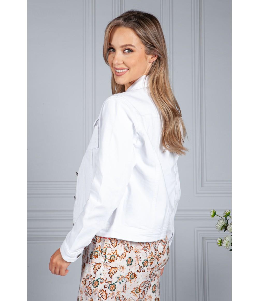Zapara Summer Denim Jacket in White