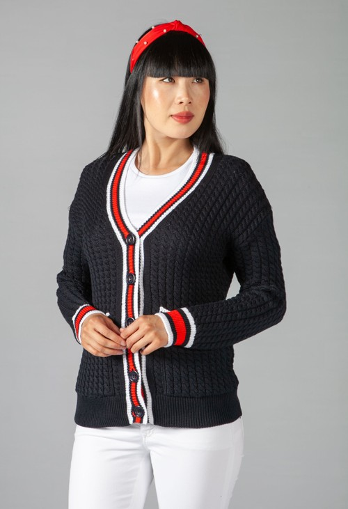 Twist Cable Knit Cardigan