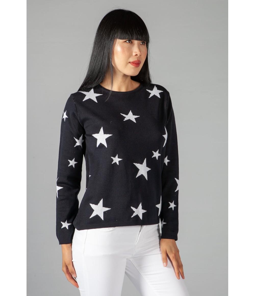 Twist Navy Star Jumper
