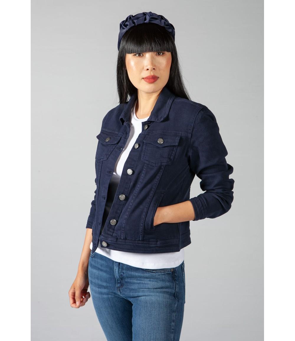 Zapara Summer Denim Jacket in Navy
