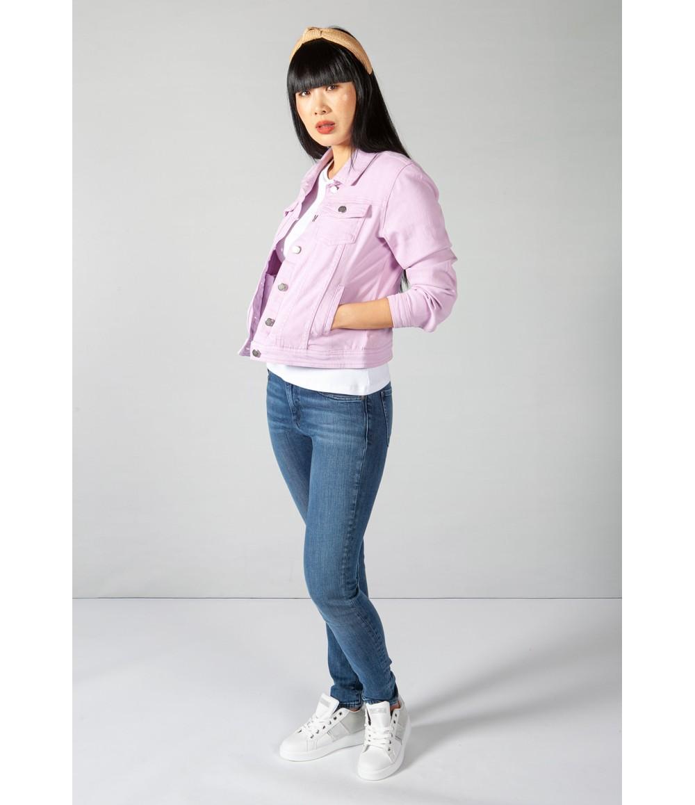 Zapara Summer Denim Jacket in Lilac