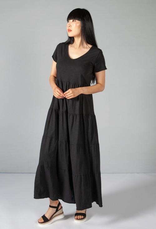 Sophie B Black Tiered Dress
