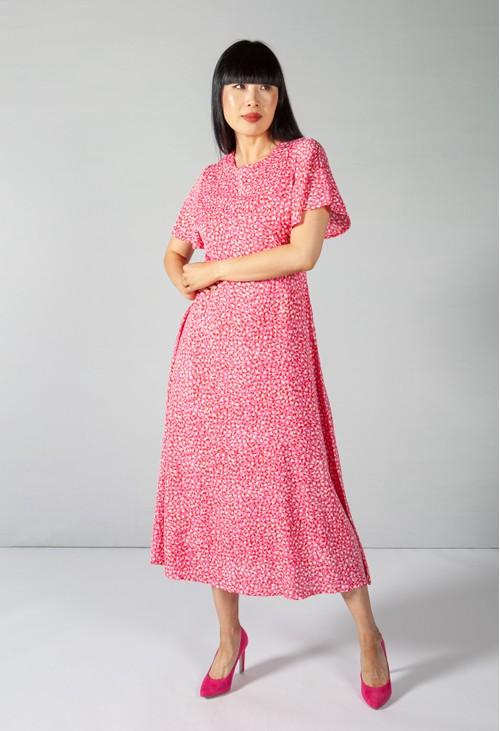 Pamela Scott Candied Pink Animal Print Dress