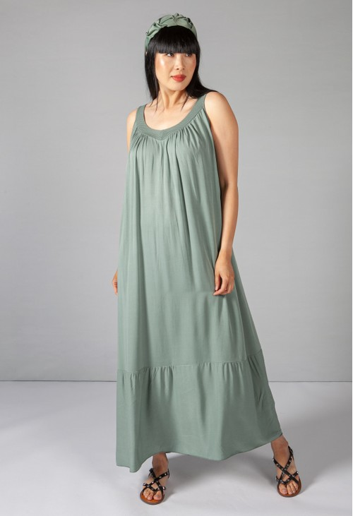 Sophie B Khaki Relaxed Fit Summer Dress