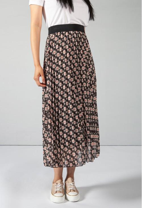 Pamela Scott Vintage Print Black Skirt