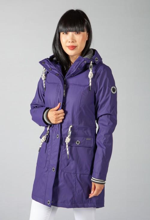 Pamela Scott Violet Marine Rain Coat
