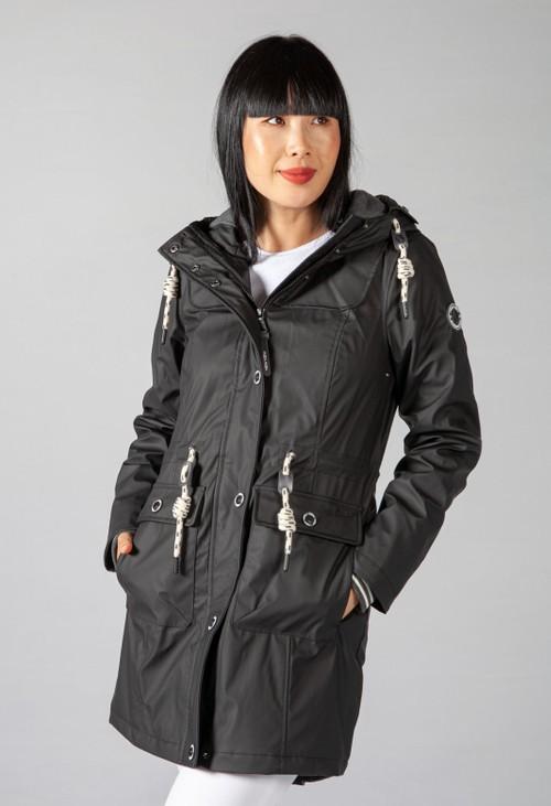 Pamela Scott Black Marine Coat