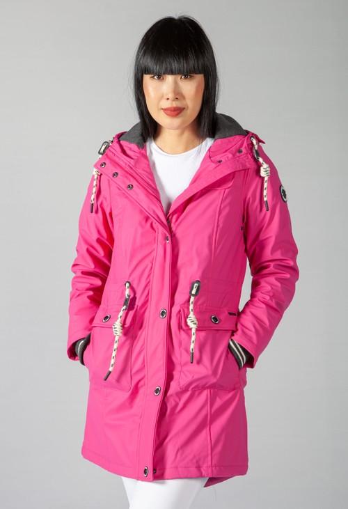 Pamela Scott Hot Pink Marine Rain Coat