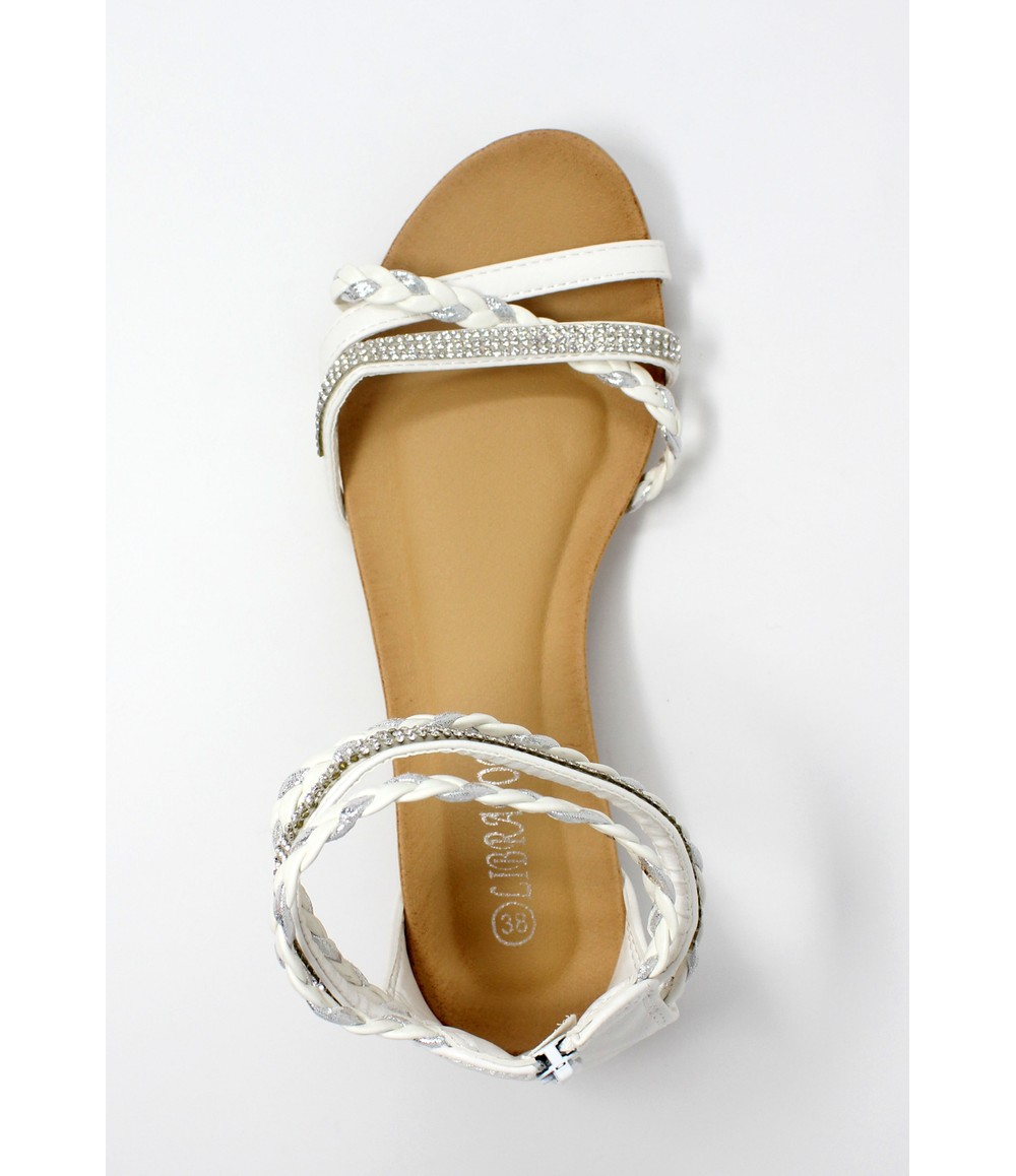 Shoe Lounge White Lightweight Ankle Strap Wedge Sandal