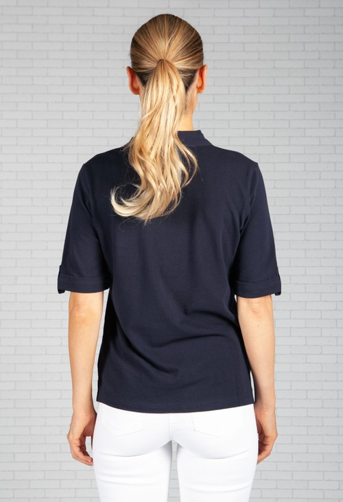 Olsen Navy Polo Shirt