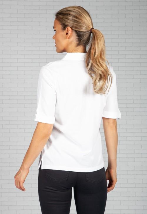 Olsen White Polo Shirt