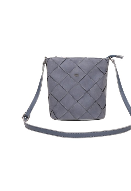 Gionni Dusted Blue Weaved Crossbody Bag