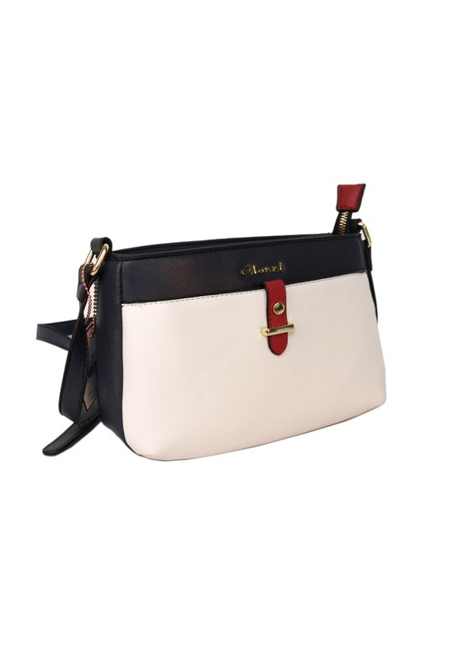Gionni Navy and Off-White Crossbody Bag