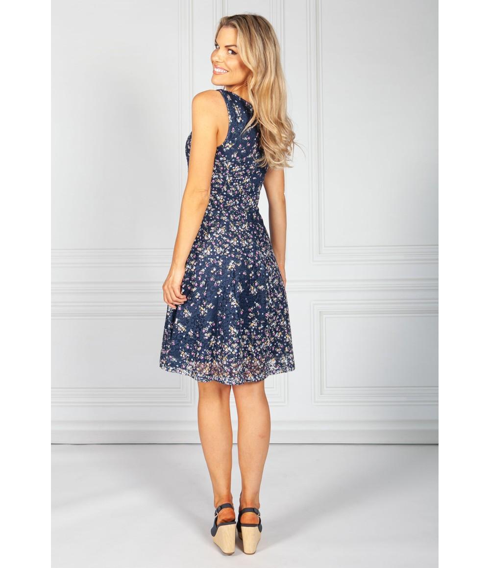 Pamela Scott Vintage Floral Lace Teacup Dress