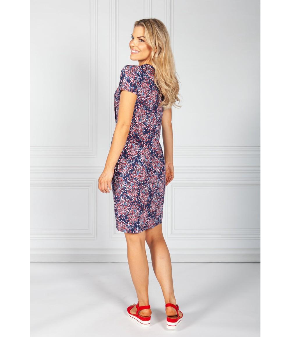 Zapara Navy Mini Blossom Print Dress