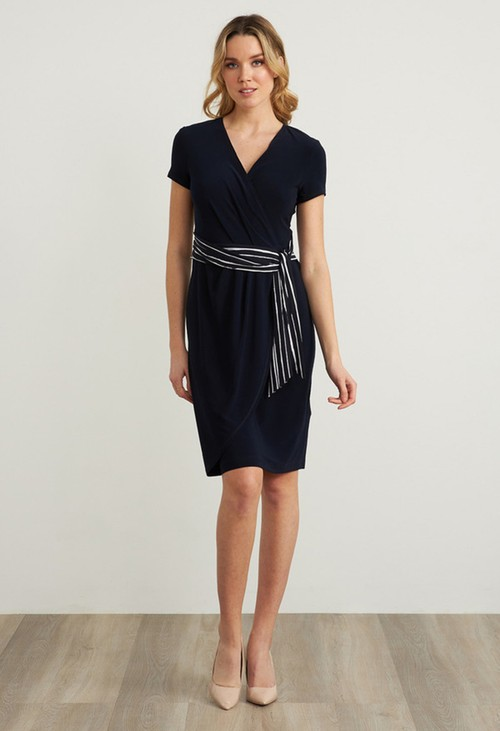 Joseph Ribkoff Belted Wrap Dress