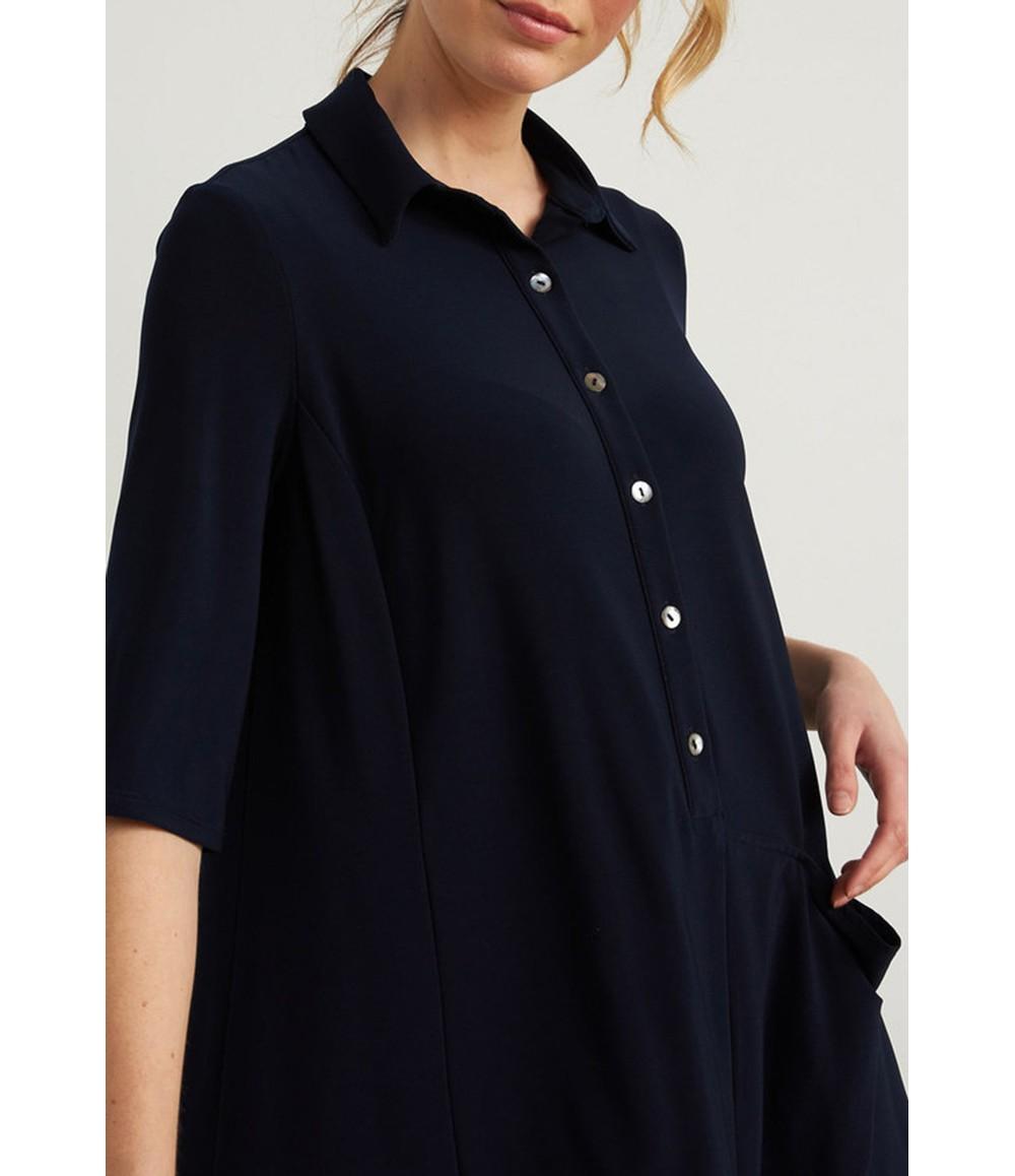 Joseph Ribkoff Shirt Dress in Midnight Blue