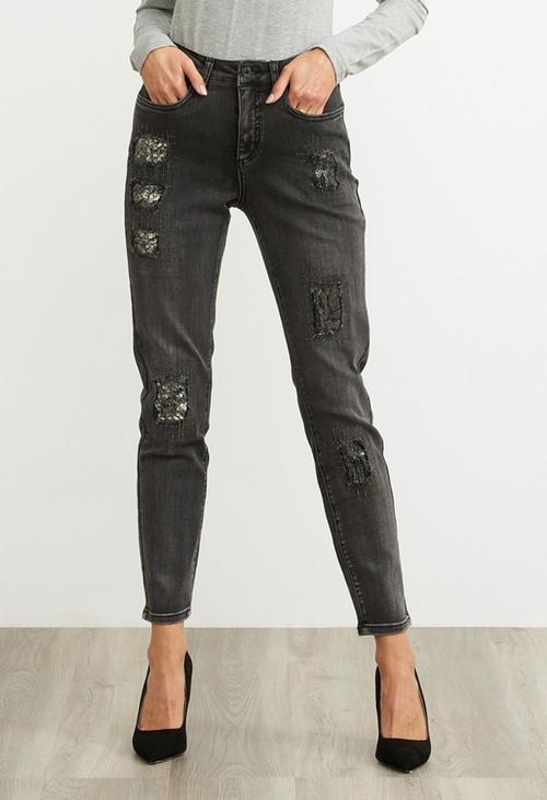 Joseph Ribkoff Grey Distressed Jeans