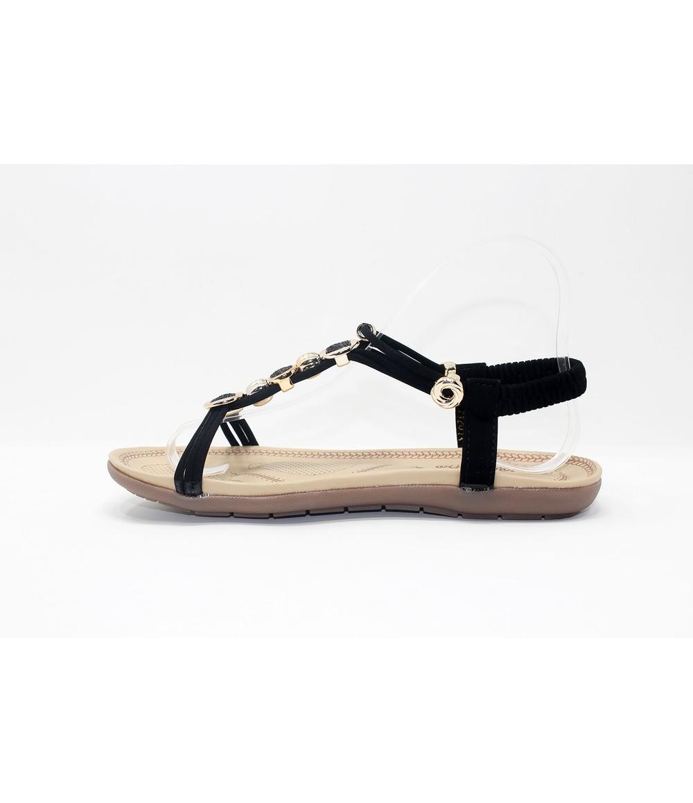 Shoe Lounge Glitter Studded Detail Sandal in Black