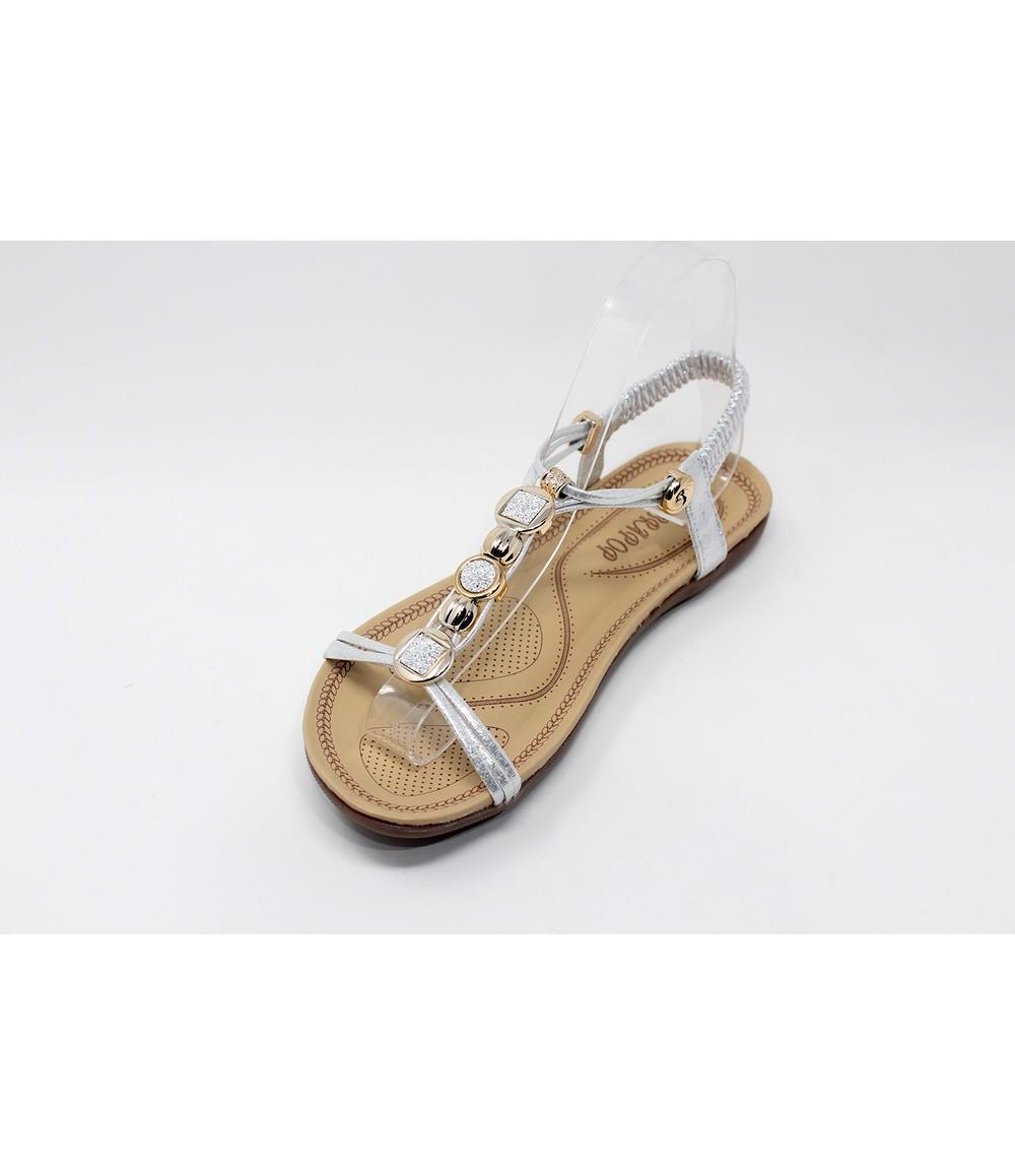 Shoe Lounge Glitter Studded Detail Sandal in Silver