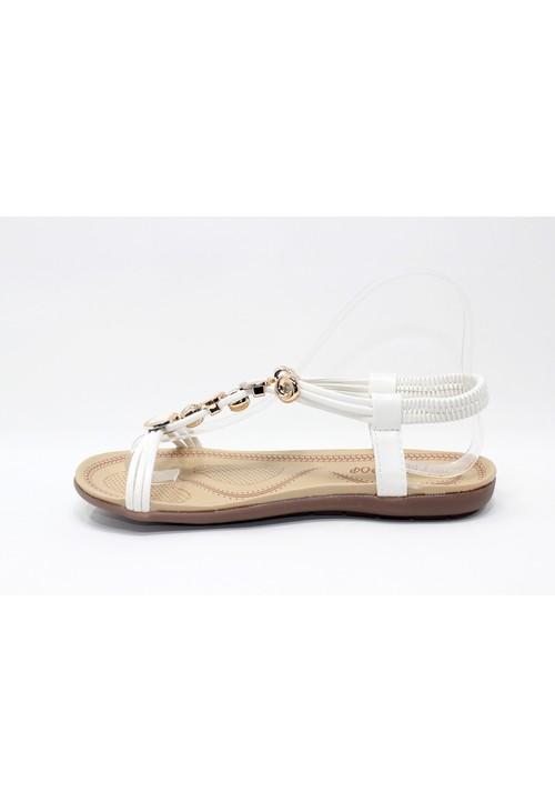 Shoe Lounge Glitter Studded Detail Sandal in White