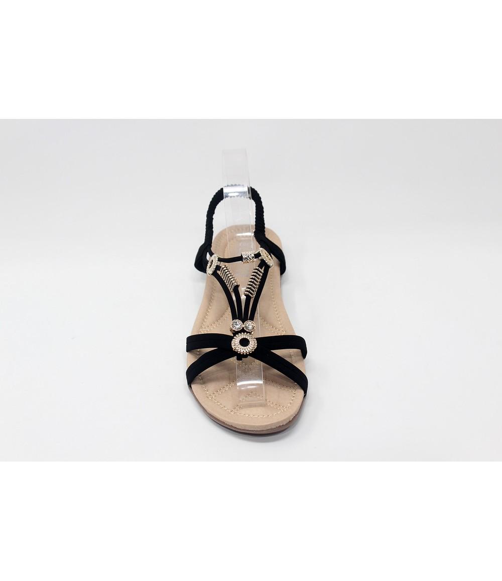 Shoe Lounge Gold Studded Sandal in Black