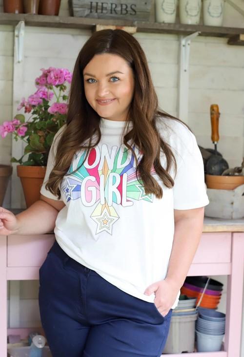 Pamela Scott Wonder White T-Shirt