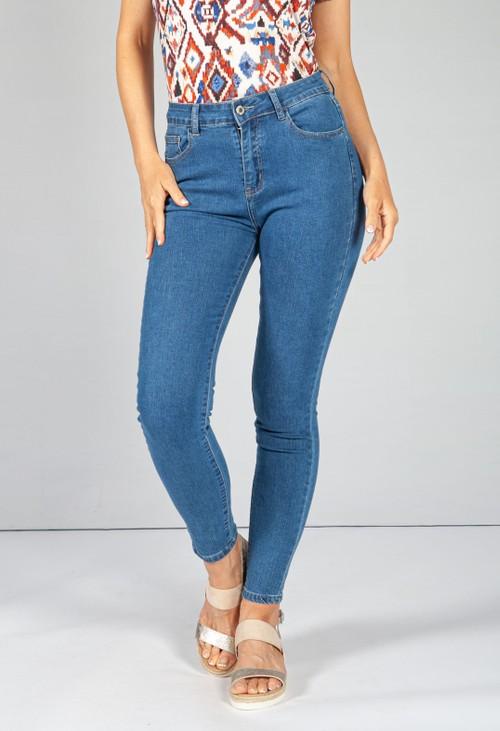 Pamela Scott Mid-Wash Push Up Skinny Leg Jeans