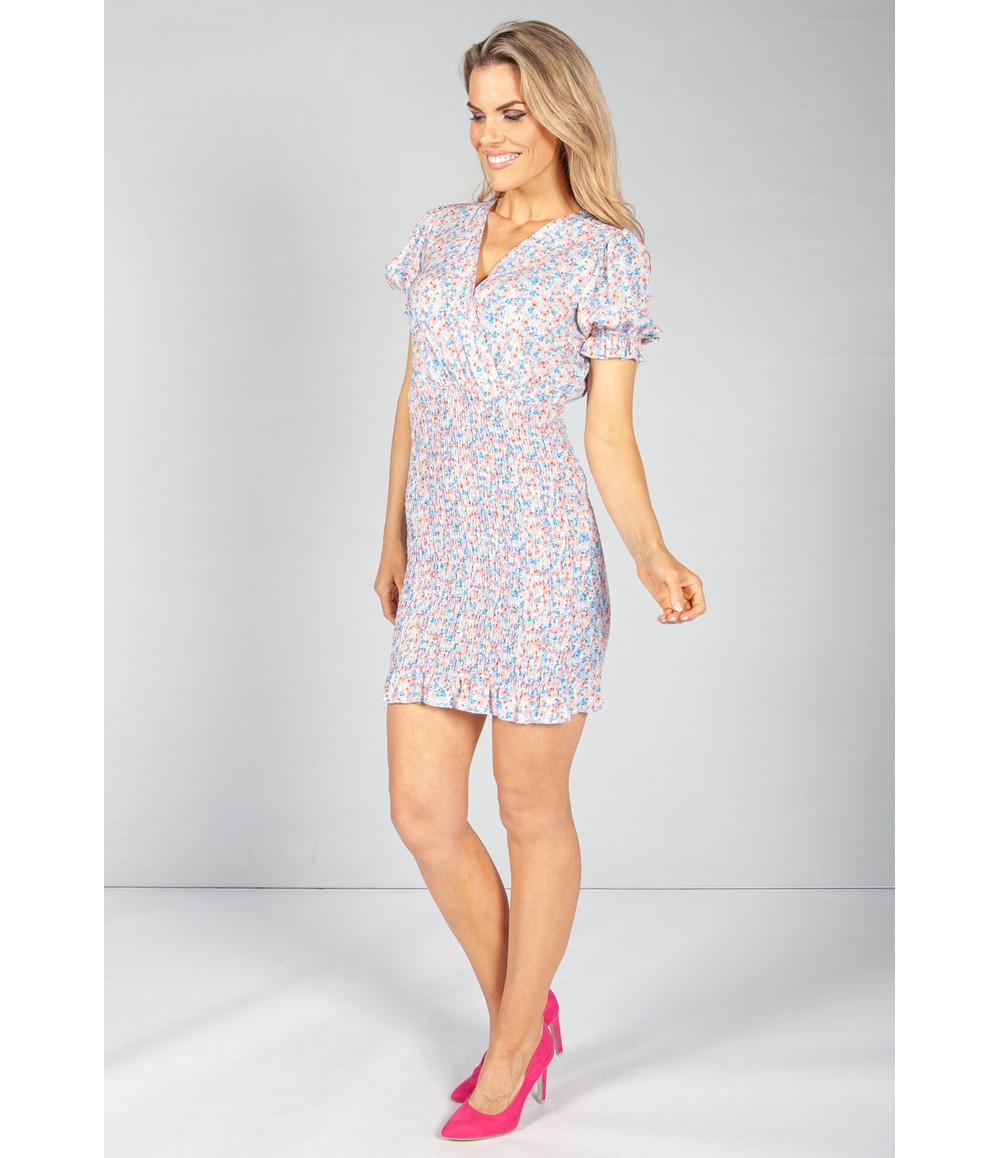 Pamela Scott Light Blue Bloom Smocking Dress