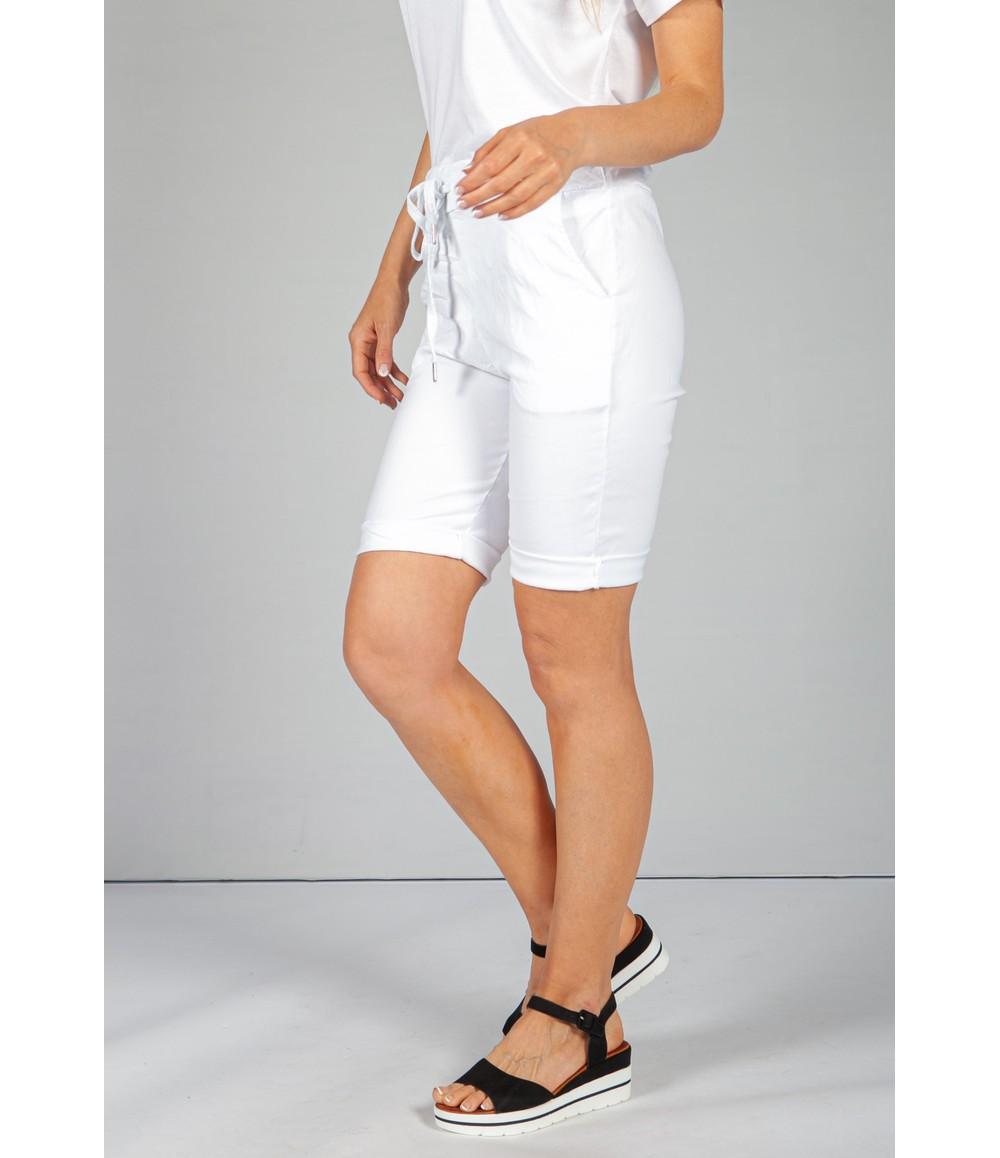 Pamela Scott Crisp White Summer Shorts