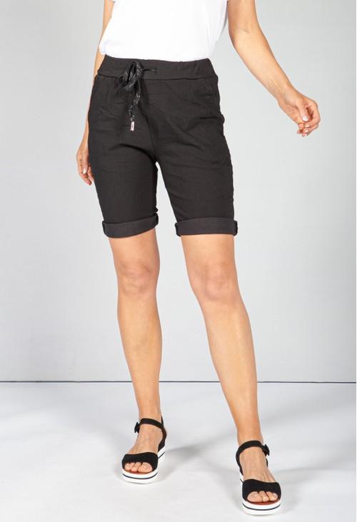 Pamela Scott Black Summer Shorts