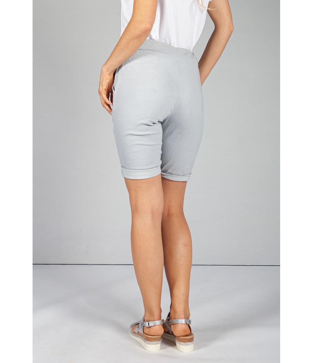 Pamela Scott Soft Grey Summer Shorts