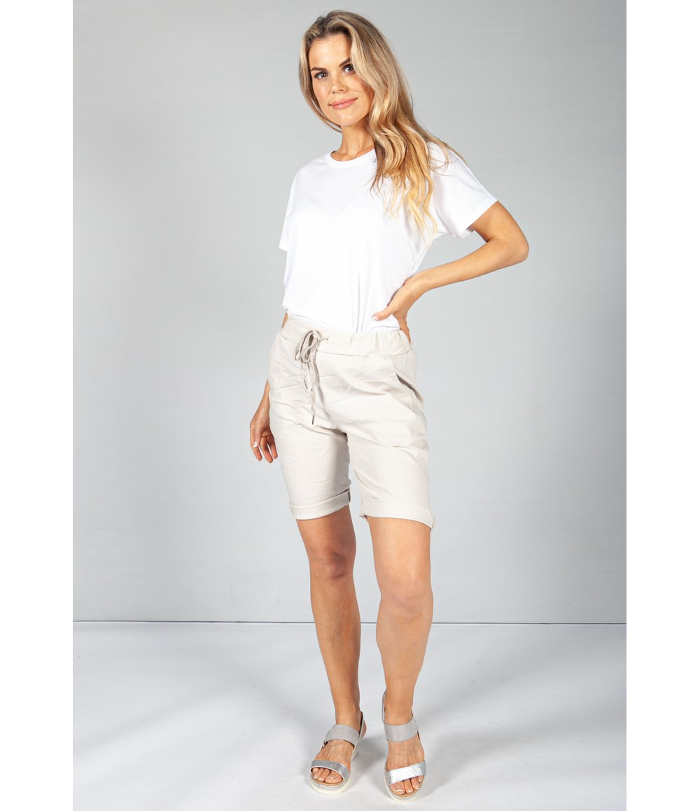 Pamela Scott Sand Summer Grey Shorts