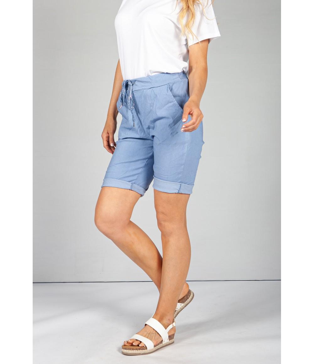 Pamela Scott Afternoon Sky Blue Summer Shorts