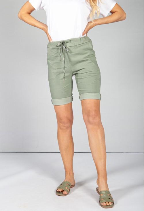 Pamela Scott Khaki Summer Shorts