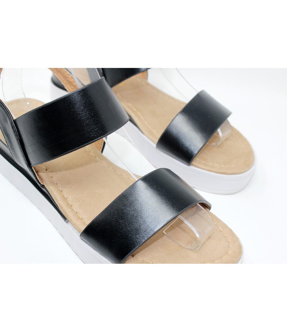 Shoe Lounge Black Double Strap Sandal