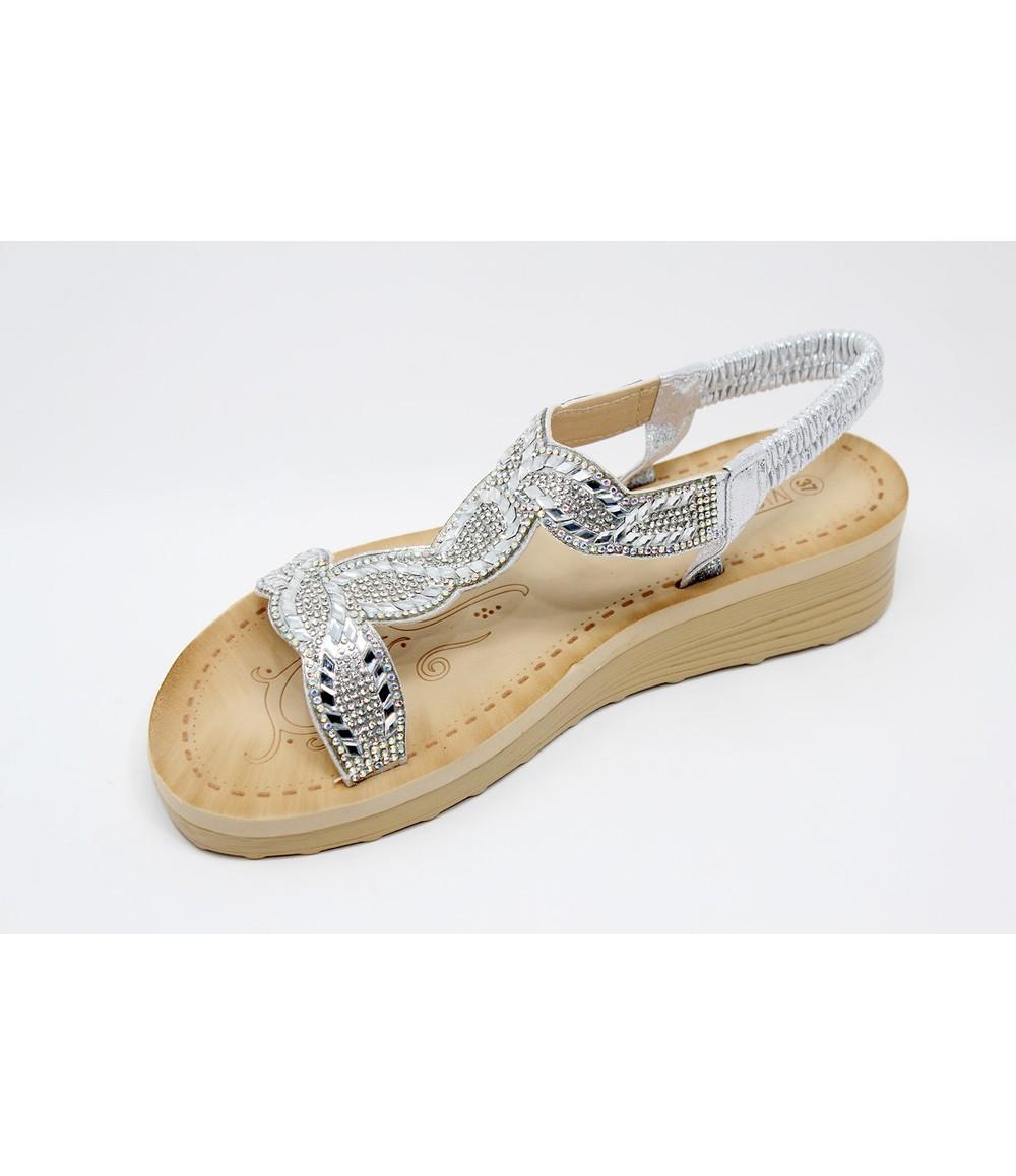 Shoe Lounge Silver Diamante Glittered Sandal