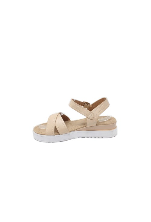 Shoe Lounge Sand Cross Strap Sandal