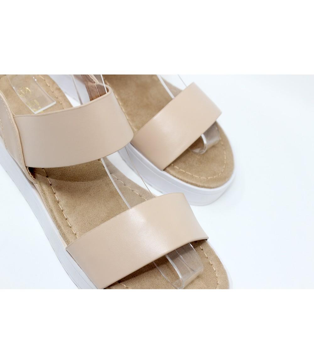 Shoe Lounge Sand Double Strap Sandal